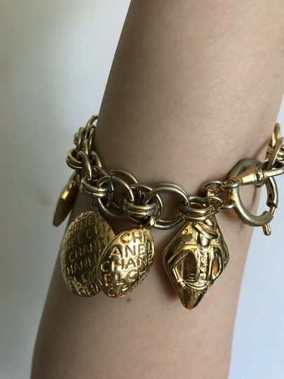 Chanel CHANEL 7 Charms Gold Plated Bracelet Timeless Image 1