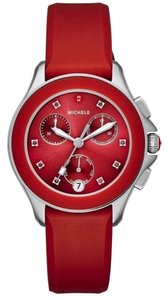 Michele (Red/Silver) Cape Chrono Sunray Dial Mww27c000004 Watch