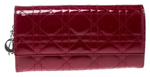Dior Patent Leather Red Clutch