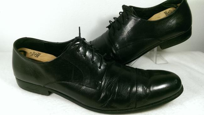 Item - Black Army Chief Leather Dress Casual Lace-up Classic 12m Shoes