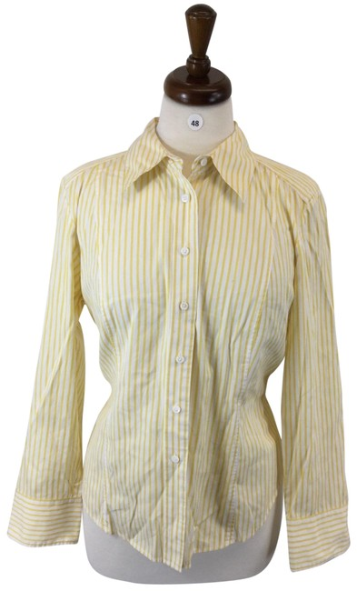 Item - Yellow Button-down Top Size 14 (L)
