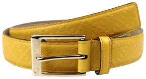 Gucci Diamante Leather Square Buckle Belt Yellow 100/40 345658 7011