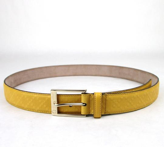Gucci Diamante Leather Square Buckle Belt Yellow 100/40 345658 7011 Image 1