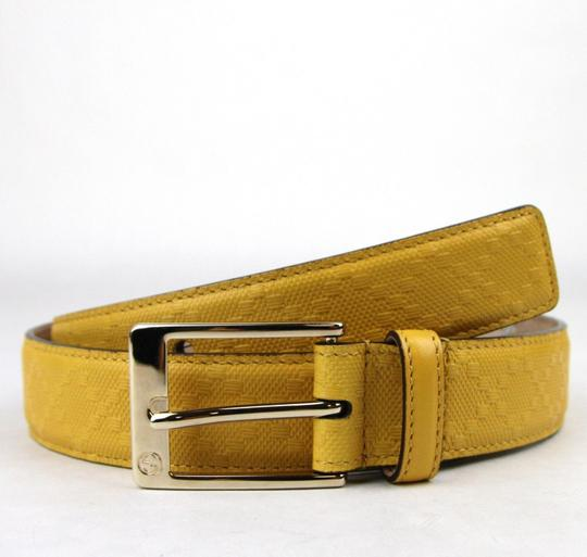 Gucci Diamante Leather Square Buckle Belt Yellow 100/40 345658 7011 Image 3