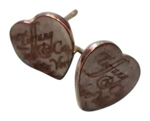 Tiffany & Co. Limited Edition Calligraphy Heart Earrings