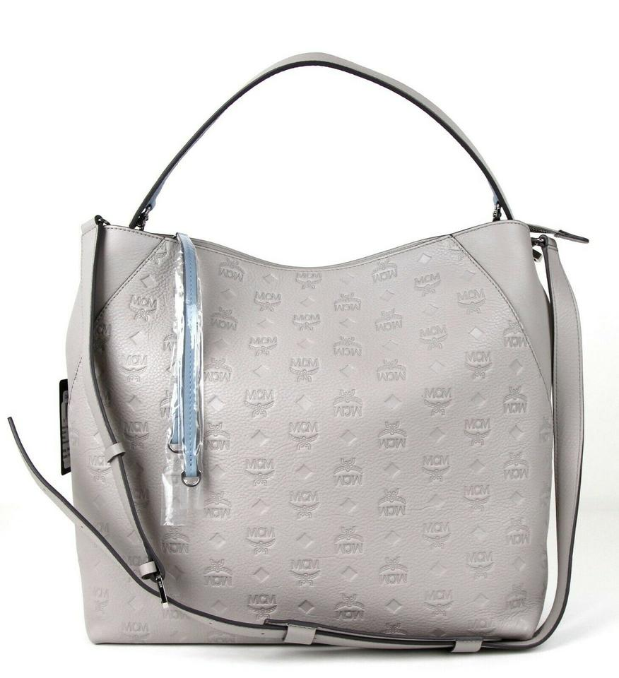 01b3aa434 MCM Large Klara Crossbody Mwh7skm55iv001 Dove Gray Leather Hobo Bag -  Tradesy