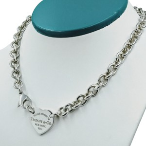 Tiffany & Co. Please return to heart tag choker necklace sterling silver
