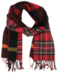 Burberry Women's Bright Red Wool Vintage Check To Check Scarf 40677541