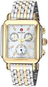 Michele Michele Deco Madison Diamond Dial Two Tone Ladies Watch MWW06p000122