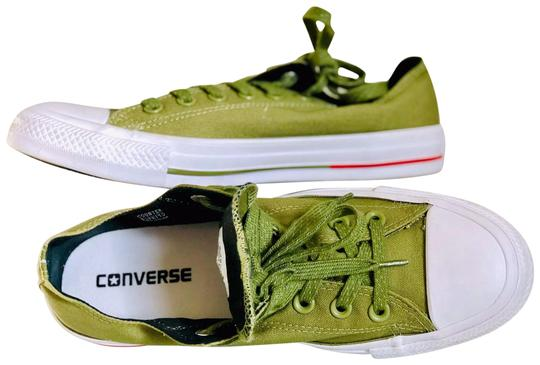 Preload https://img-static.tradesy.com/item/25333131/converse-olive-green-lo-ox-chuck-taylor-allstar-sneakers-sneakers-size-us-8-regular-m-b-0-1-540-540.jpg