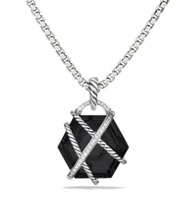 David Yurman Large 20mm Cable Wrap Necklace with Pave Diamonds