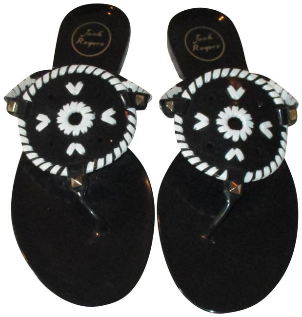 Item - Black & White Jelly Georgica Thong (New) Sandals Size US 11 Regular (M, B)