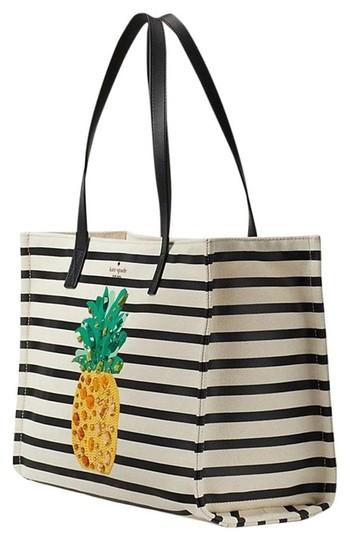 Preload https://img-static.tradesy.com/item/25333614/kate-spade-mega-sam-pineapple-wjewels-multicolor-canvasleather-tote-0-0-540-540.jpg