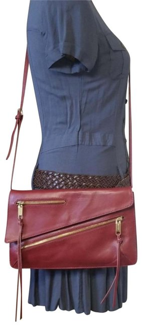 Item - Clutch Josie Convertible Red Leather Cross Body Bag