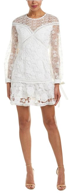 Item - White Womens Lace Short Night Out Dress Size 6 (S)