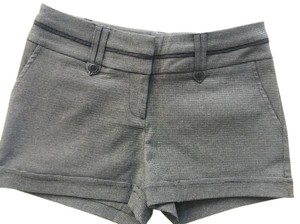 Maurices Casual Dressy Mini/Short Shorts Black & Grey