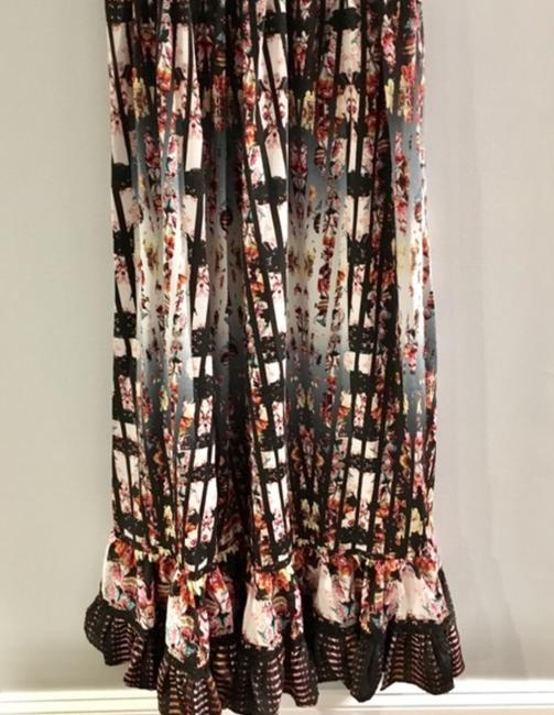 Anthropologie Ruffle Striped Floral Sequin Beaded Dress Image 5