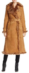 Burberry Tolladine Shearling Suede Trench Coat