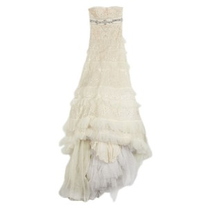 10f91e62ec7 Elie Saab White XS Couture Wedding Long Formal Dress Size 0 (XS ...