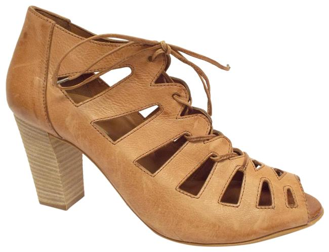 Item - Cuoio Natural Leather Lace Up Block-heel Pump Bootie Uk6.5/Us9 Sandals Size US 9 Regular (M, B)