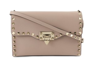 Valentino Leather Studded Gold Hardware Cross Body Bag