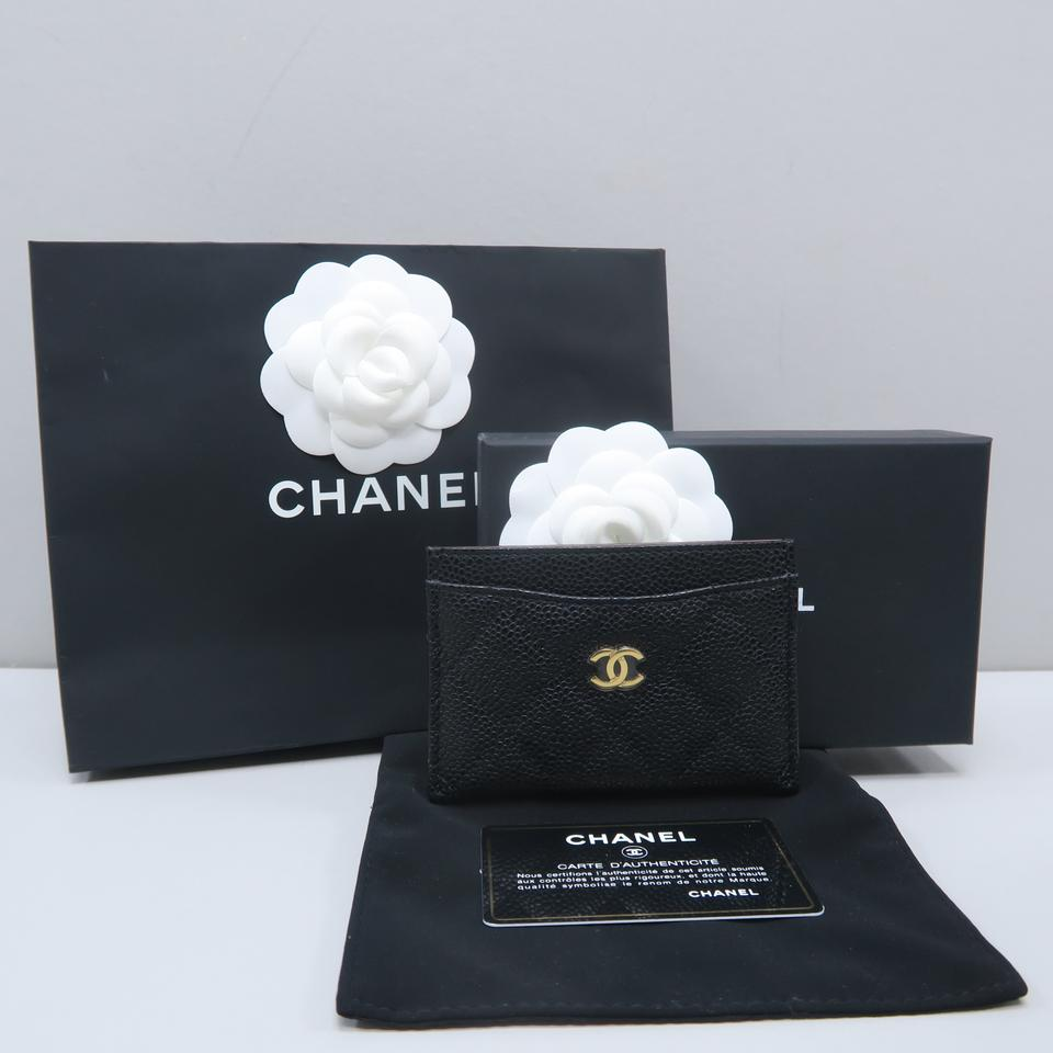 c7ee7570438d29 Chanel Black Caviar Quilted O-card Holder Wallet Image 11. 123456789101112