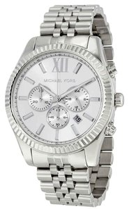 Michael Kors Lexington Roman Numeral Chronograph S-Steel Quartz Round Men's Watch