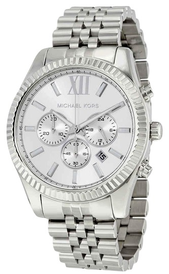 Preload https://img-static.tradesy.com/item/25334917/michael-kors-silver-tone-lexington-roman-numeral-chronograph-s-steel-quartz-round-men-s-watch-0-1-540-540.jpg