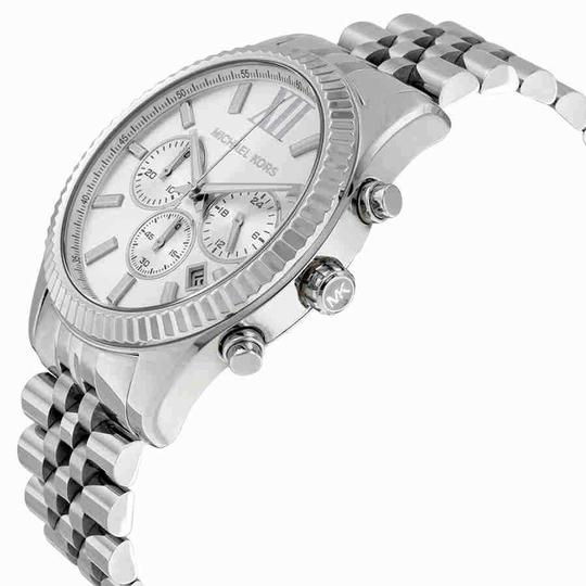 Michael Kors Lexington Roman Numeral Chronograph S-Steel Quartz Round Men's Watch Image 1