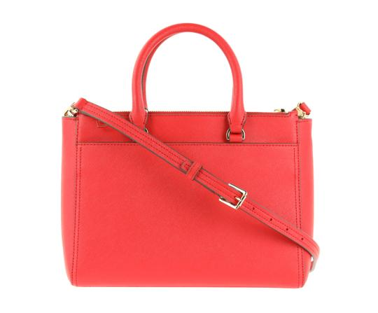 Tory Burch Leather Nylon Gold Hardware Tote in Red Image 2
