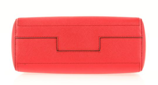 Tory Burch Leather Nylon Gold Hardware Tote in Red Image 5