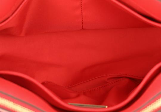 Tory Burch Leather Nylon Gold Hardware Tote in Red Image 7