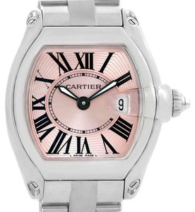 Cartier Cartier Roadster Pink Dial Stainless Steel Ladies Watch W62017V3