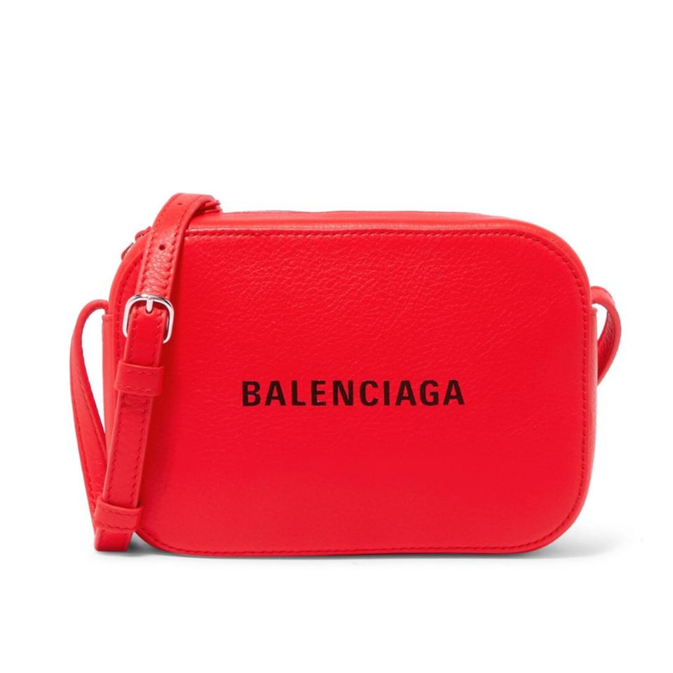42a343e1dcb7 Balenciaga Camera XS Everyday Aj Logo Printed Leather Cross Body Bag ...