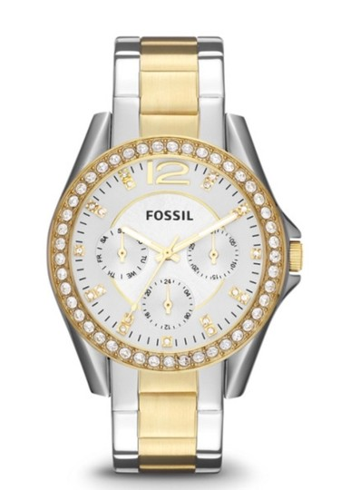 Fossil RILEY MULTIFUNCTION TWO-TONE STAINLESS STEEL WATCH Fossil RILEY MULTIFUNCTION TWO-TONE STAINLESS STEEL WATCH Image 0