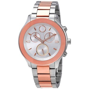 Movado Bold Index H-Marker Chronograph S-Steel Quartz Round Ladies Watch