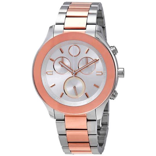 Preload https://img-static.tradesy.com/item/25335259/movado-silver-two-tone-bold-index-h-marker-chronograph-s-steel-quartz-round-ladies-watch-0-0-540-540.jpg