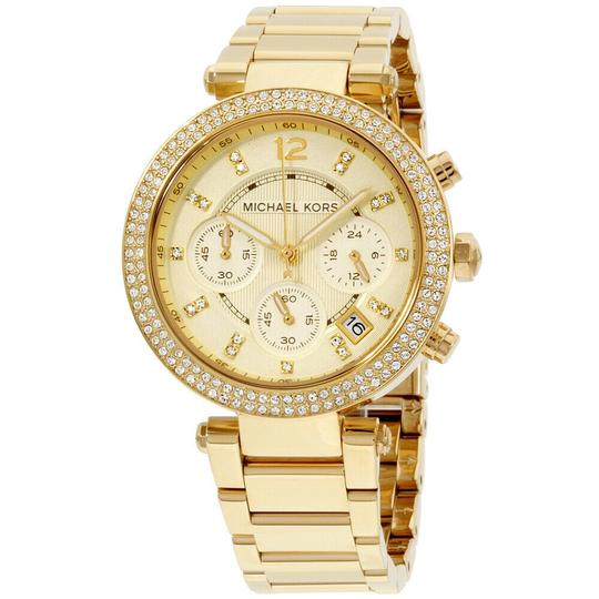 Preload https://img-static.tradesy.com/item/25335352/michael-kors-champagne-gold-tone-parker-crystal-index-s-steel-chronograph-quartz-roundladies-watch-0-0-540-540.jpg