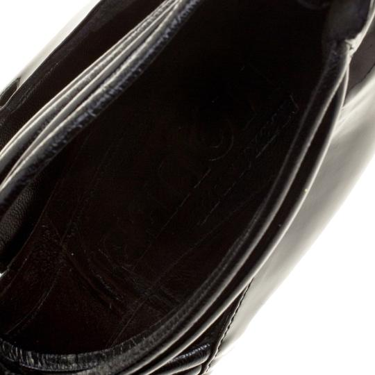 Alexander McQueen Leather Striped Patent Leather Black Sandals Image 6
