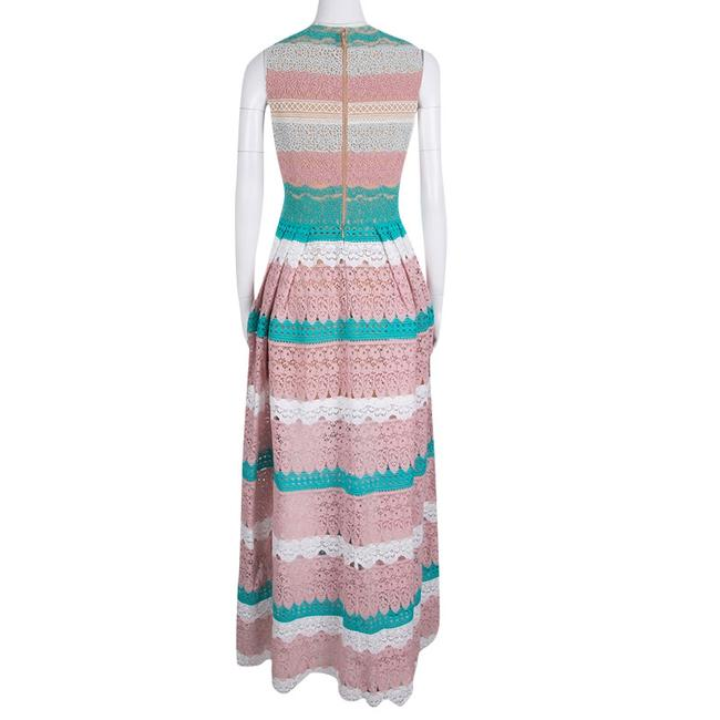 Multicolor Maxi Dress by Zuhair Murad Floral Lace Sleeveless Gown Silk Image 2