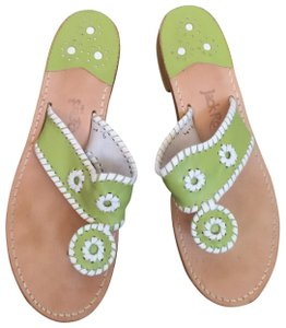 Jack Rogers lime/white Sandals
