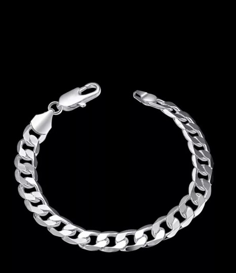 Other CUBAN MEN'S CURB 8MM/8 INCH LINK BRACELET Image 8