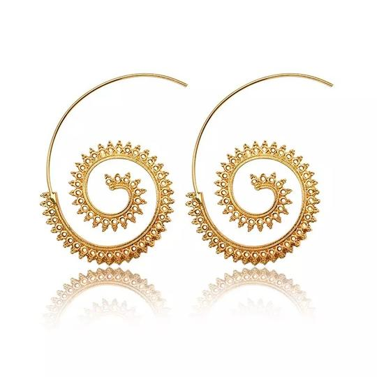 Other Modern Ethnic Swirl Threader Earrings Geometric Jewelry Image 0