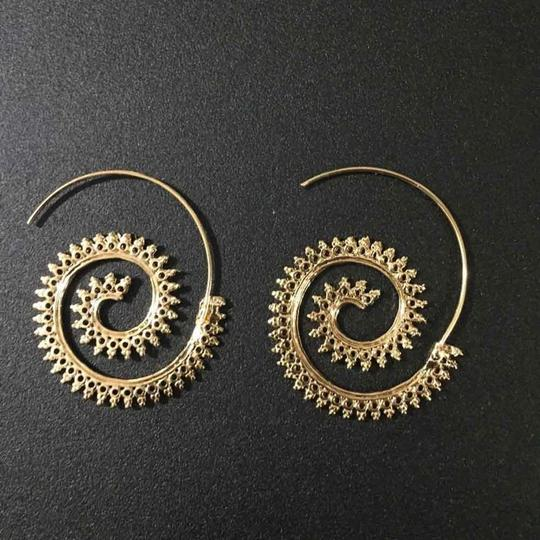 Other Modern Ethnic Swirl Threader Earrings Geometric Jewelry Image 1