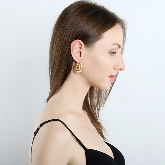 Other Modern Ethnic Swirl Threader Earrings Geometric Jewelry Image 3