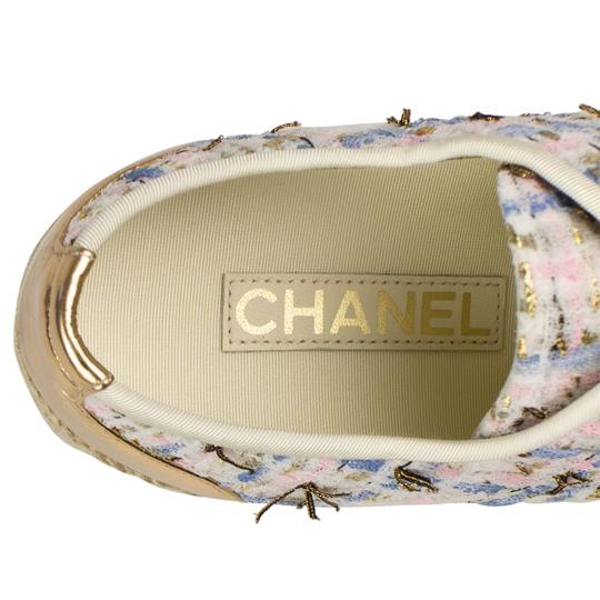 Chanel Tweed Leather Cap Toe Logo Multi-Color Athletic Image 6