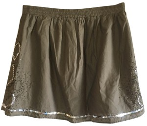 Gap Mini Skirt Green, Silver