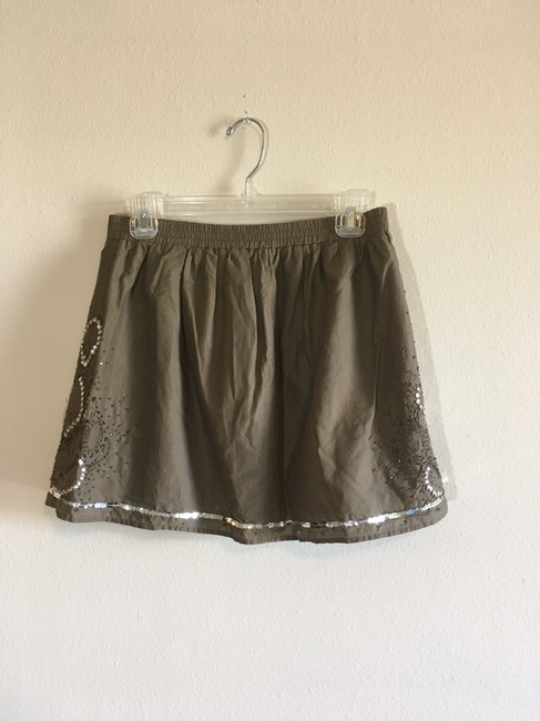 Gap Mini Skirt Green, Silver Image 1
