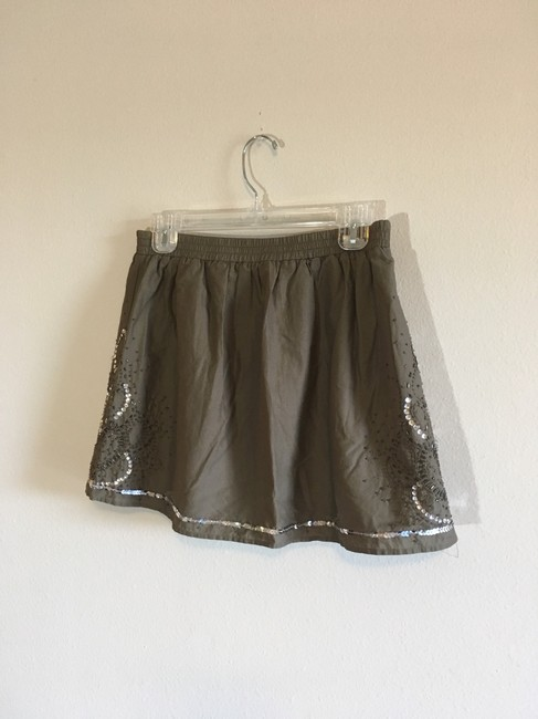Gap Mini Skirt Green, Silver Image 7