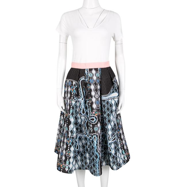 Peter Pilotto Textured Polyester Viscose Skirt Black Image 1